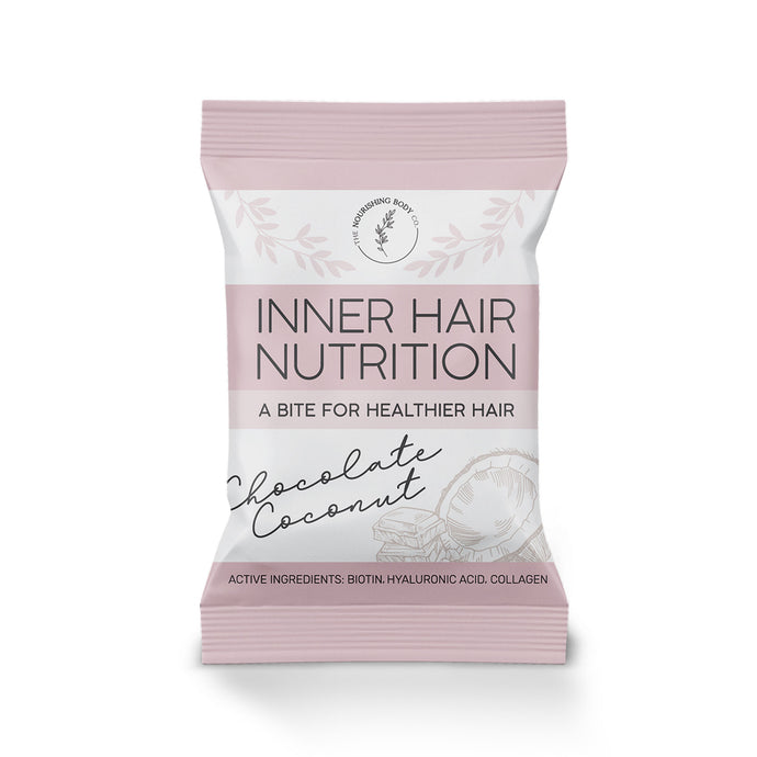 Chocolate Inner Hair Nutrition Bite collagen biotin hair health