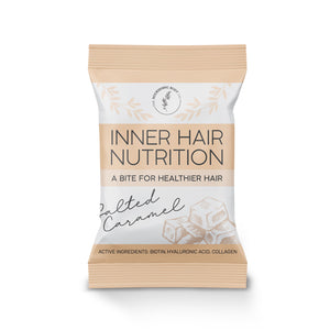 Salted Caramel Inner Hair Nutrition Bite biotin collagen hair health