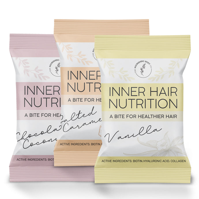 Inner Hair Nutrition Bites Mix Pack Biotin Collagen Hair Health