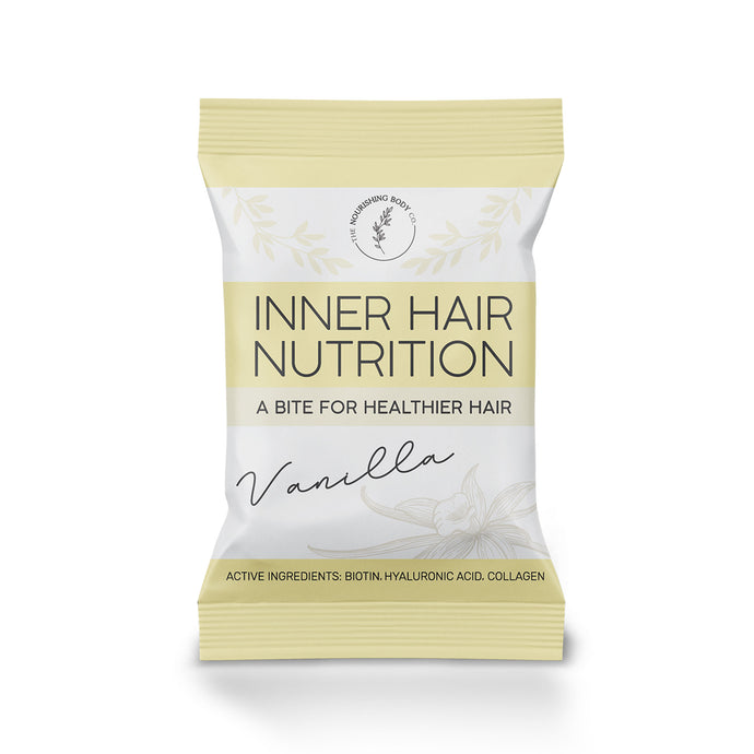Vanilla Inner Hair Nutrition Bites hair health collagen biotin