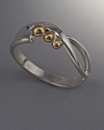 14k Gold and Sterling Silver Ring
