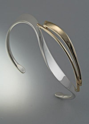 14k Gold and Sterling Silver Bracelet