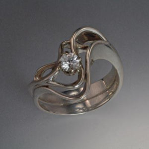 Sterling Silver Ring with White Sapphire