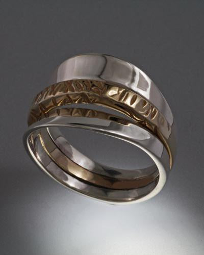 14K gold and Sterling Ring