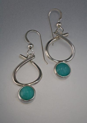 Sterling Silver earring with Amazonite