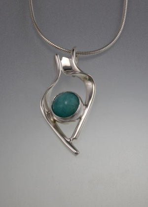 Sterling Silver Pendant with Amazonite
