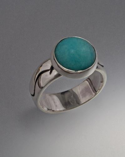 Sterling Silver Ring with Amazonite