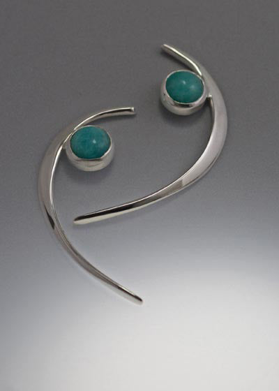 Sterling Silver Earrings with Amazonite