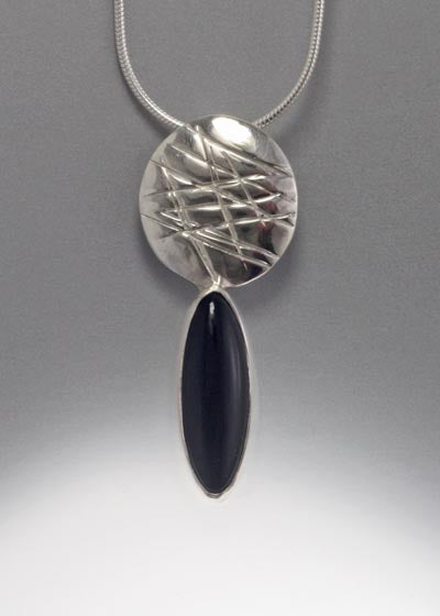 Sterling Silver Pendant with Onyx