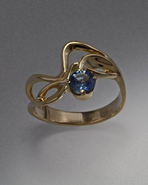 14K Gold ring with Blue Sapphire