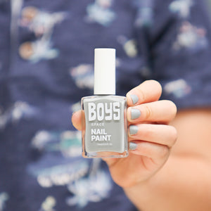 Grey Boys Nail Polish