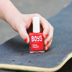Red Boys Nail Polish