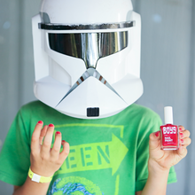 Load image into Gallery viewer, Red Boys Nail Polish and Star Wars Helmet