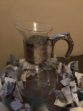 Load image into Gallery viewer, Beautiful Antique Pitcher With Silver Accents