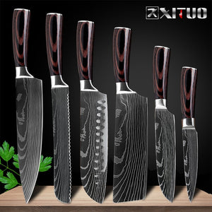 Gorgeous Knives Lasered With Beautful Damascus Patterns