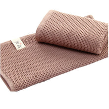 Load image into Gallery viewer, Elegant Absorbent 100% Cotton Waffle Washcloth Solid Colors