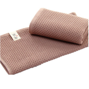 Elegant Absorbent 100% Cotton Waffle Washcloth Solid Colors