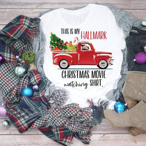 Wonderful HALLMARK Christmas Movie Red Truck SHIRT
