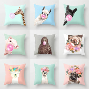 Animal, Unicorn, Sloth, Decorative Throw Pillows Case Cushion Cover These are Tyler's Favorite