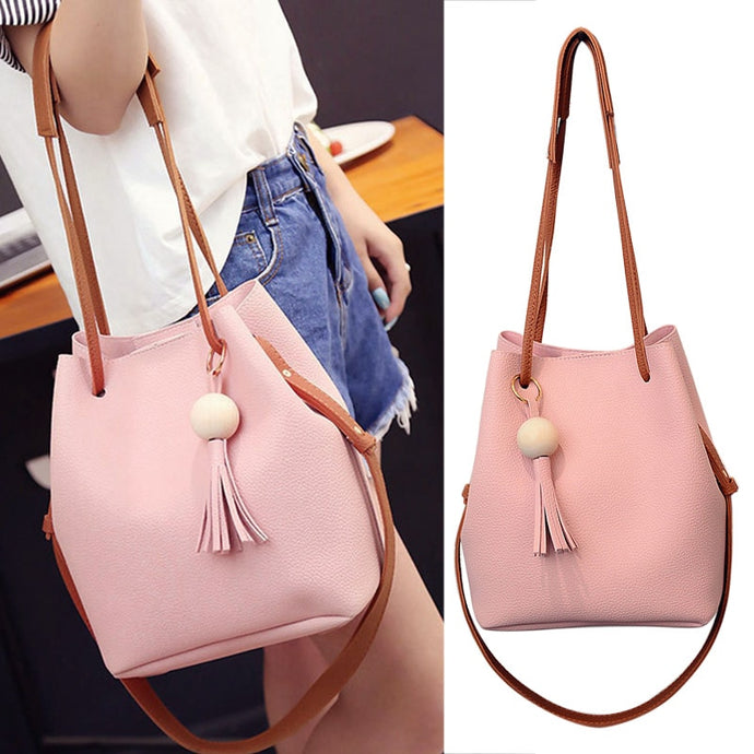 Beautiful Leather Bucket Shoulder Bag
