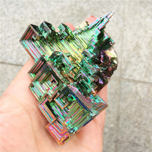 Load image into Gallery viewer, Beautiful  Mineral Specimen Bismuth Crystal Iridescent Minerals Rocks big