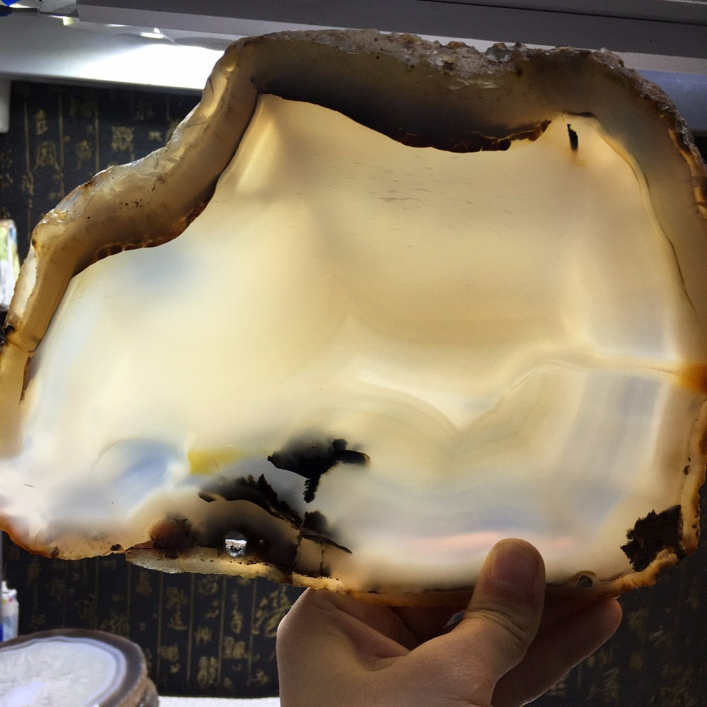 Amazingly BEAUTIFUL Agate Slices, Tray For Candles/Home Decor