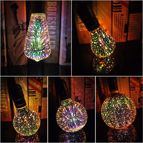 3D Star Led Vintage Edison Light Bulbs
