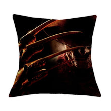 "Load image into Gallery viewer, 18"" Linen Cushion Cover Throw Pillowcase, Murderers Chucky Jason Friday Home Decor"