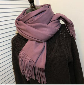 Solid Color Cashmere Scarves For Men or Ladies in 24 Beautiful Colors