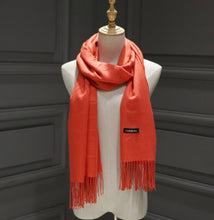 Load image into Gallery viewer, Solid Color Cashmere Scarves For Men or Ladies in 24 Beautiful Colors
