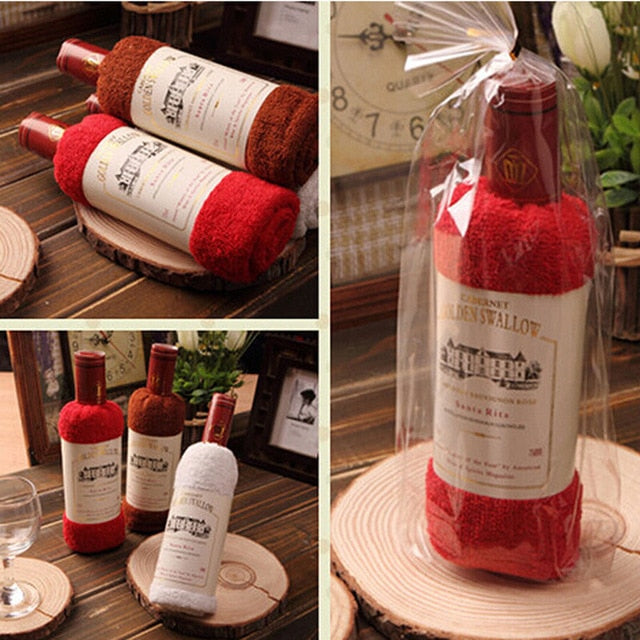 Cool New  Wine Bottle Shape Towel