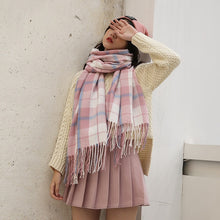 Load image into Gallery viewer, Autumn/Winter Wool Plaid Scarf Shawl
