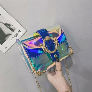 Adorable Iridescent  Shoulder Jelly Purse