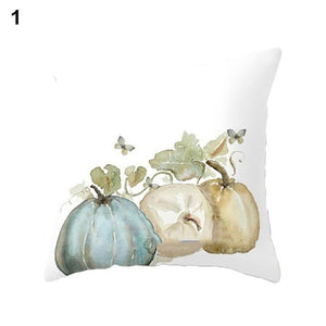 Cute Pumpkin Watercolor Throw Pillow Cover for Autumn Harvest