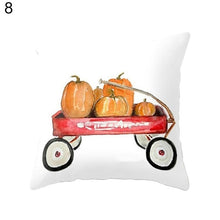 Load image into Gallery viewer, Cute Pumpkin Watercolor Throw Pillow Cover for Autumn Harvest