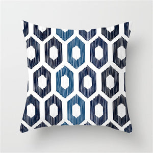 Blue Geometric Cushion Cover for Throw Pillows , Check out our line of new pillows too