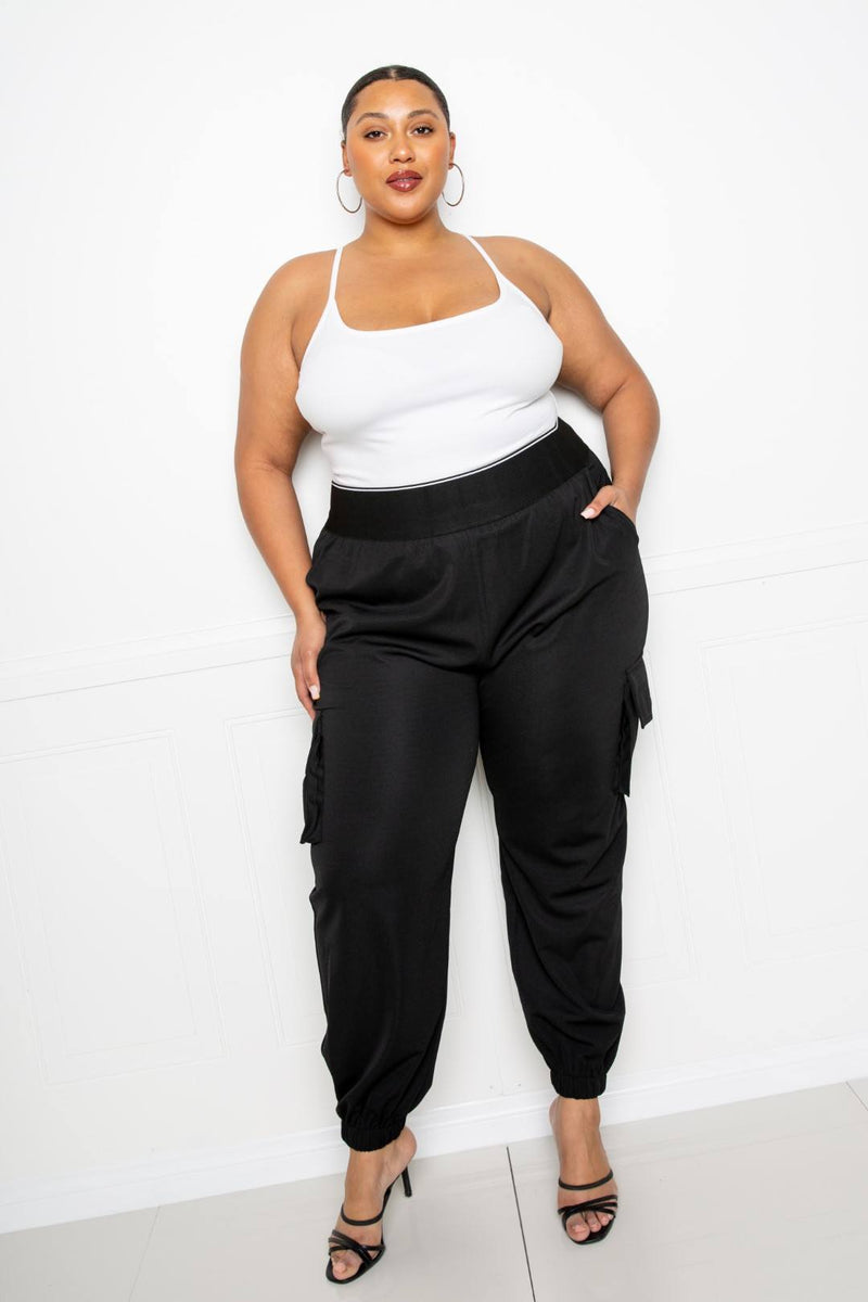 Utility Jogger Pants With Elastic Band - FabulousFixx