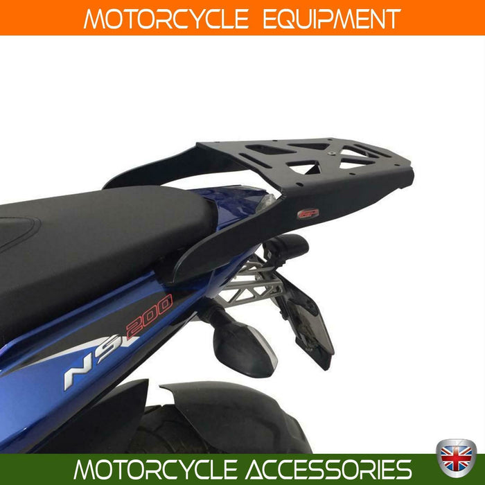 Bajaj Pulsar NS 200 topcase carrier luggage rack black