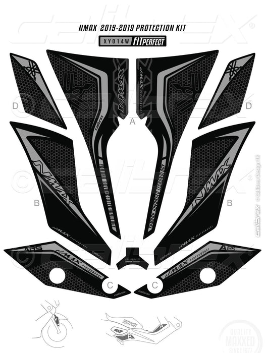 YAMAHA NMAX BLACK 2 FAIRING FULL PROTECTION SET