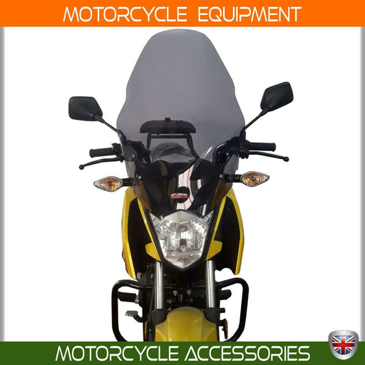 Honda CB 125F touring smoke windscreen 56 CM 2016-19 European made