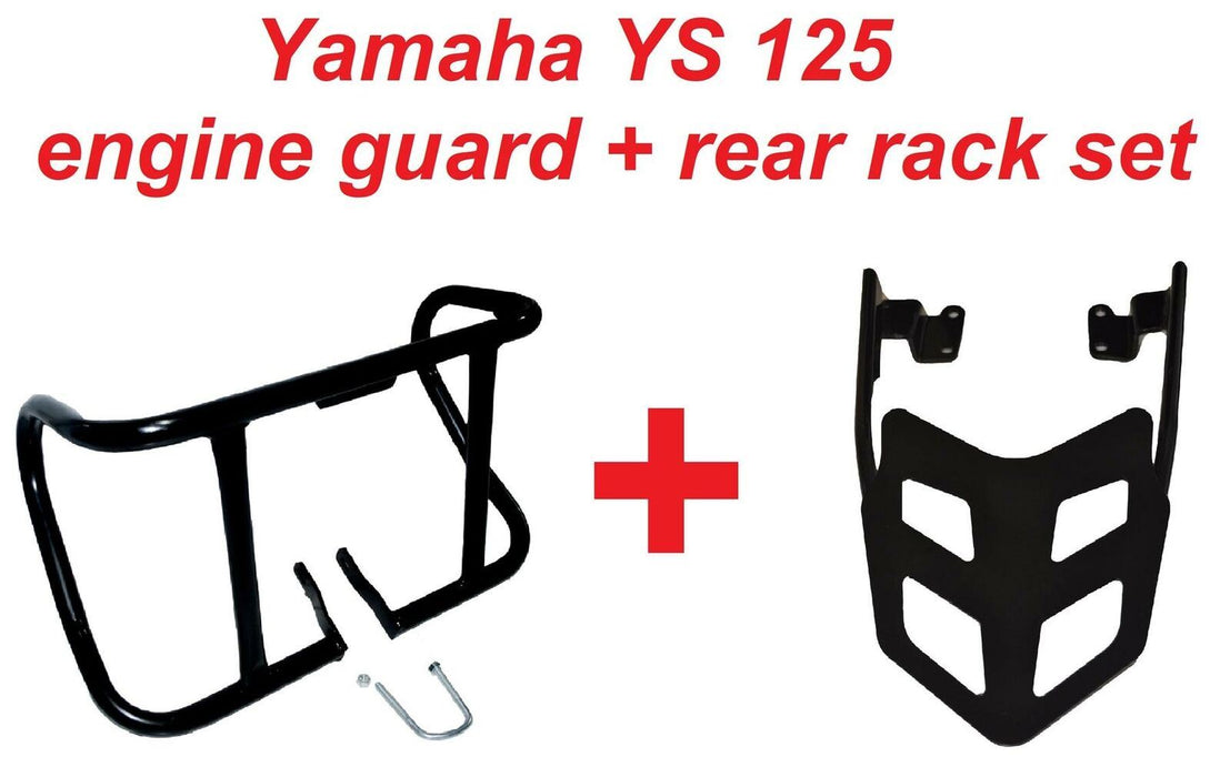 Yamaha YS 125 Engine Guard + Rear rack set