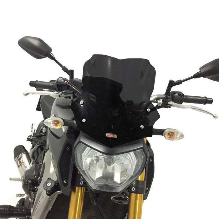 Yamaha MT09 dark smoke windscreen 34 cm 13-16