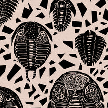 Load image into Gallery viewer, Trilobites fabric black - £50p/m