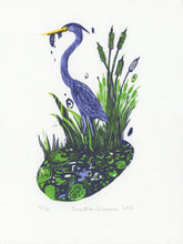 Load image into Gallery viewer, Heron fishing