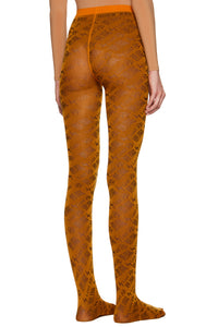 Bronze Orange 'Lost' Tights