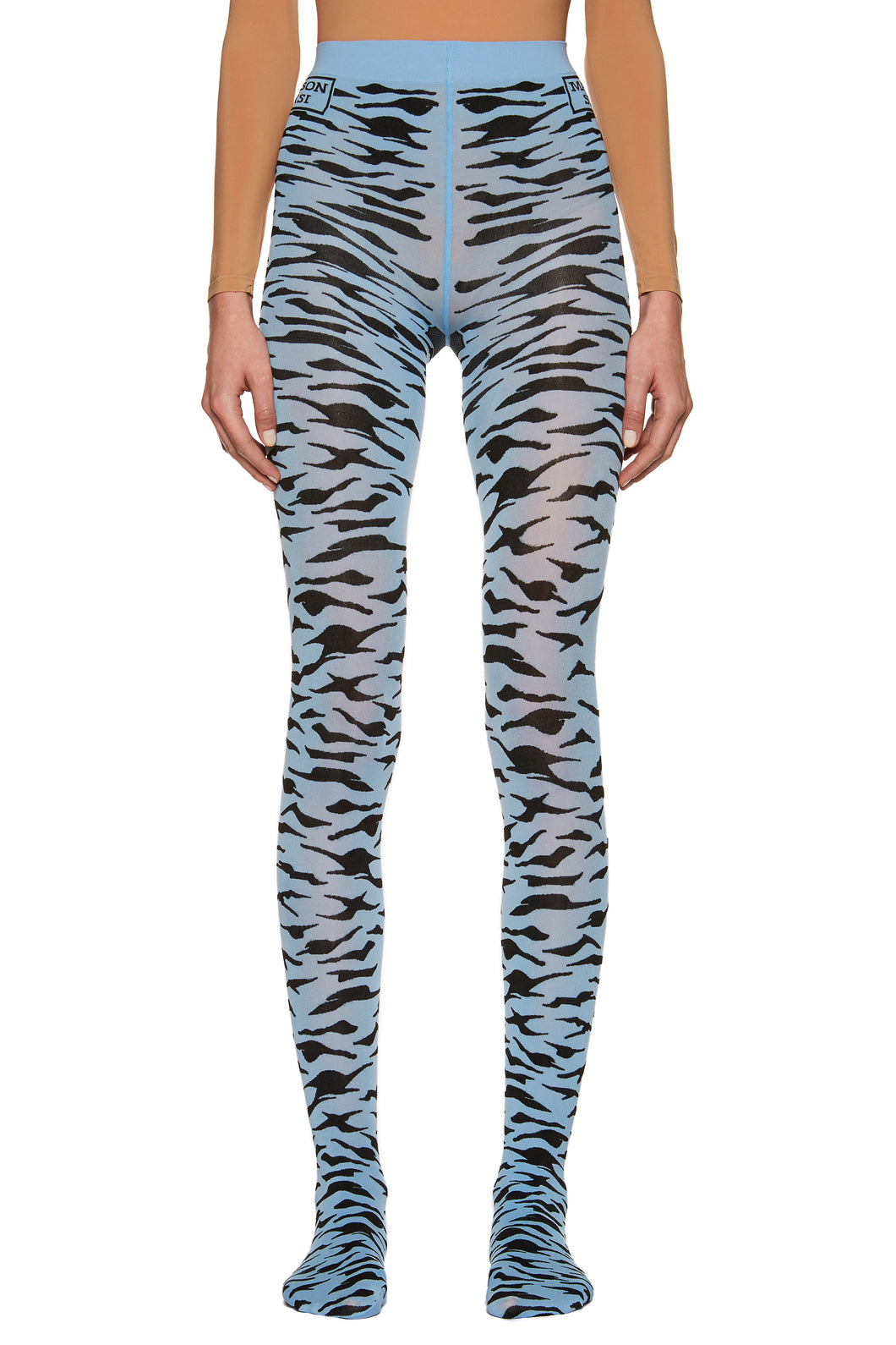 Cerulean Blue 'Zebra Eye' Tights