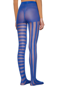 Electric Blue 'Stripes' Tights