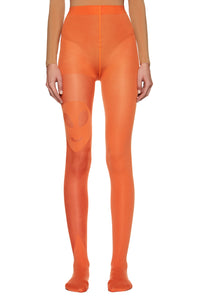 Orange 'UFO' Tights