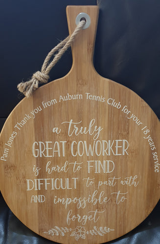 Round personalised serving board