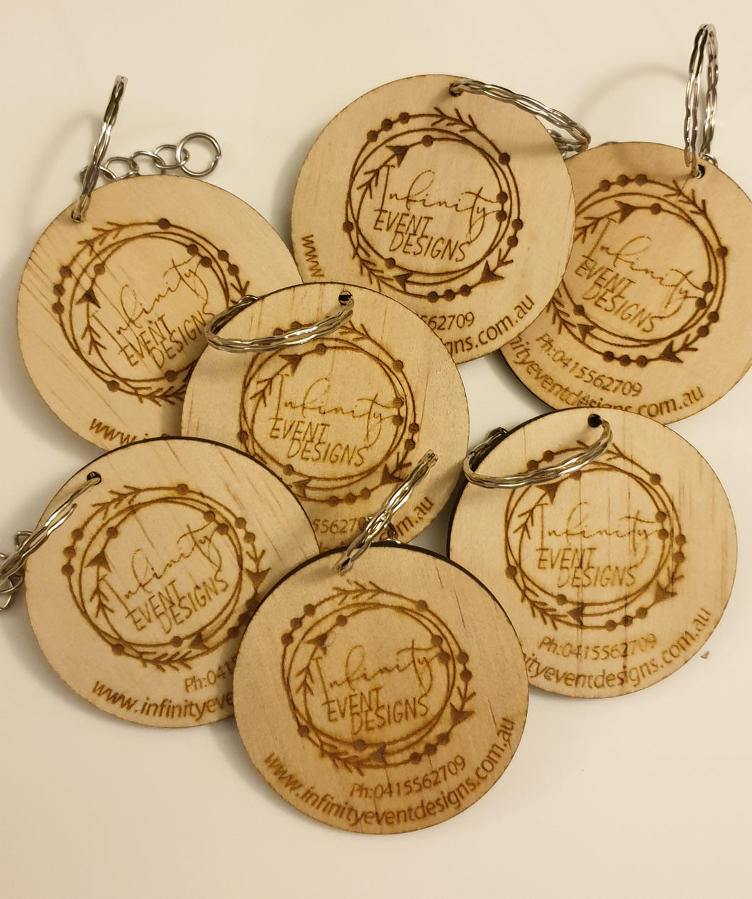 Business Logo Keyrings